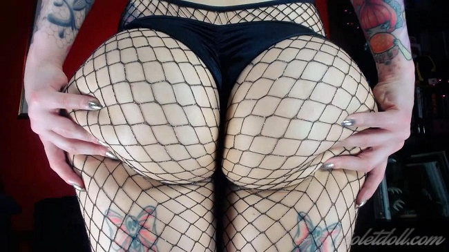 Fishnet Ass Worship
