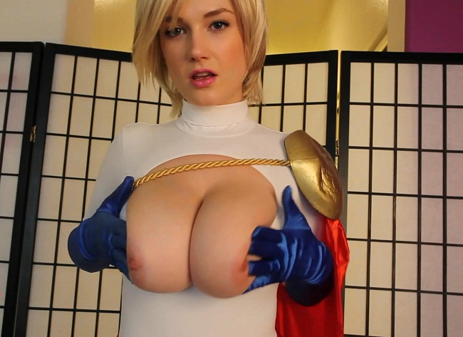 Power Girl Siri  Hypno-Boobs Jerk-Off Instructions -2836